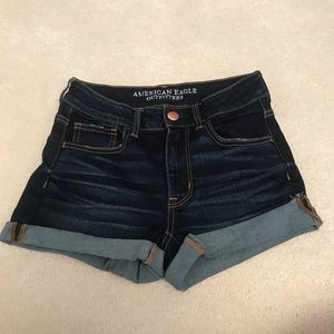 Dark Wash American Eagle Jean Shorts!!